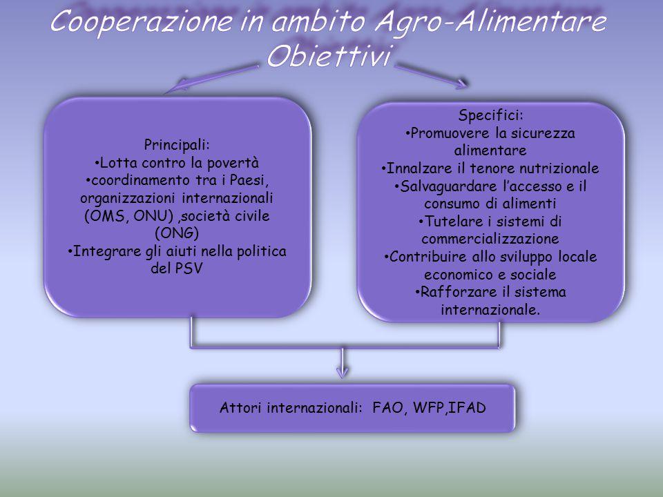 Cooperazione in ambito Agro-Alimentare Obiettivi