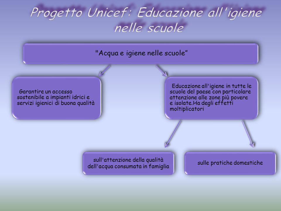 Progetto Unicef: Educazione all igiene nelle scuole
