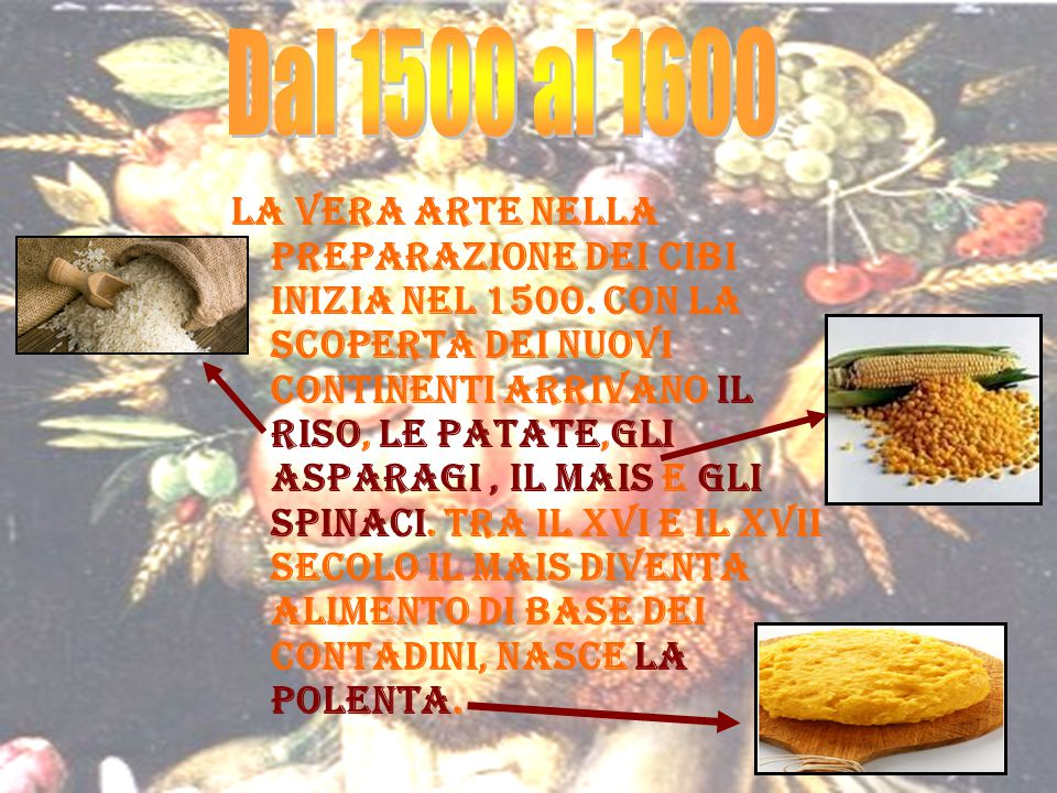 Dal 1500 al 1600