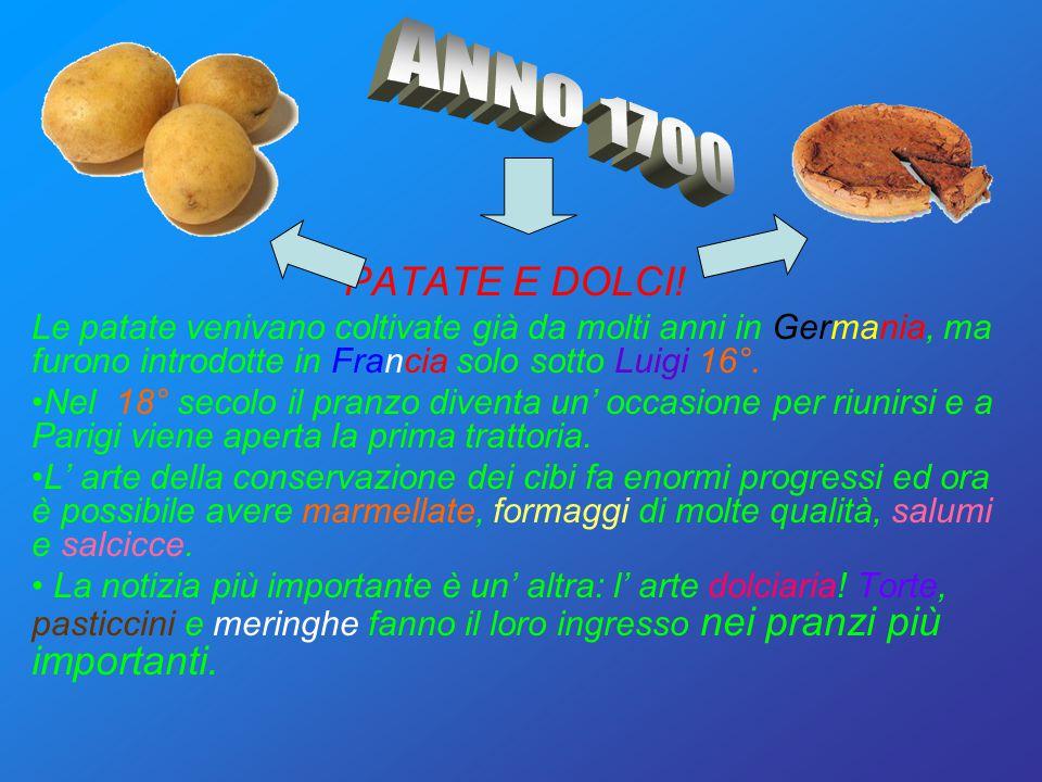 yerwf ANNO 1700 PATATE E DOLCI!
