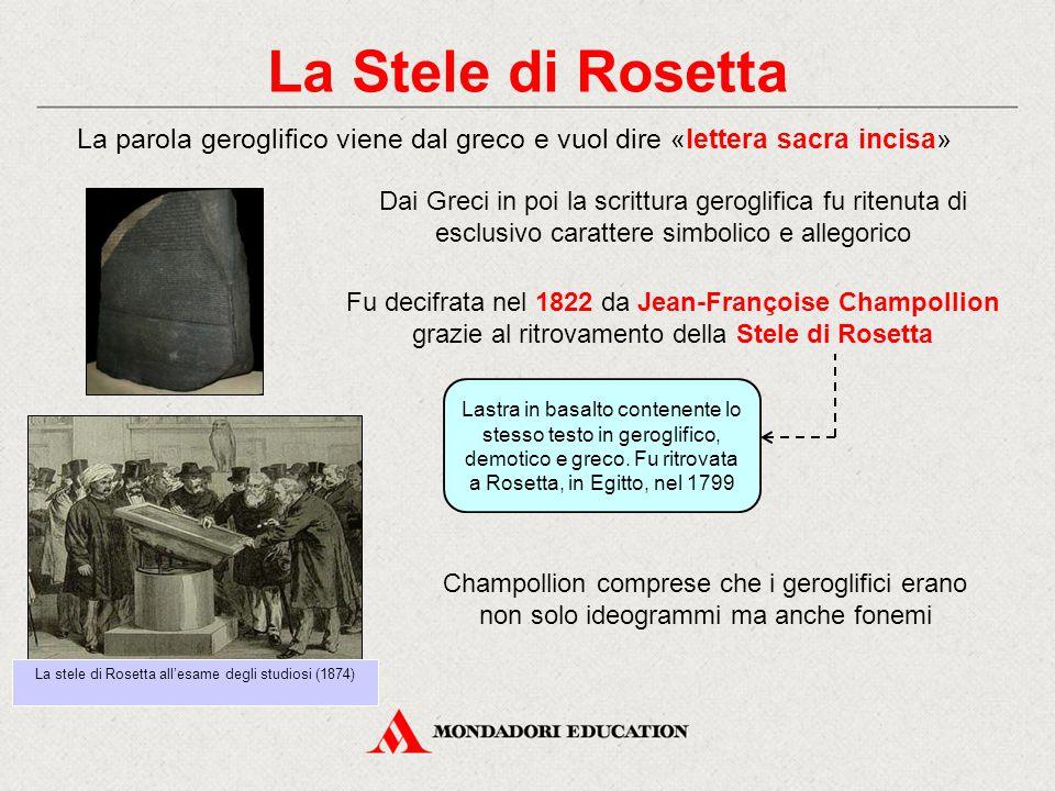 La stele di Rosetta all'esame degli studiosi (1874)