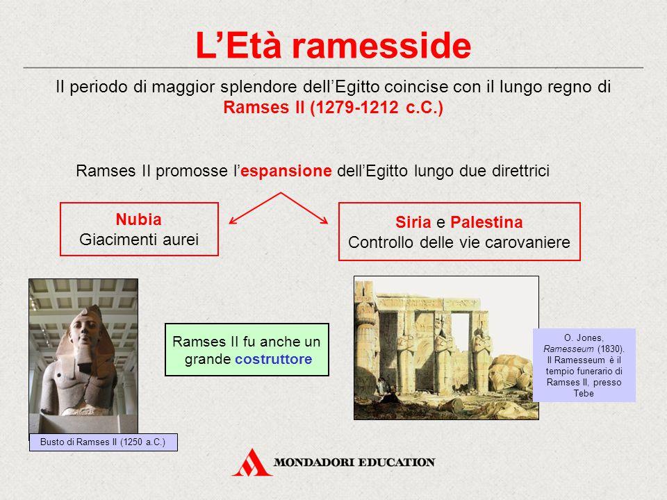 L'Età ramesside Il periodo di maggior splendore dell'Egitto coincise con il lungo regno di Ramses II (1279-1212 c.C.)