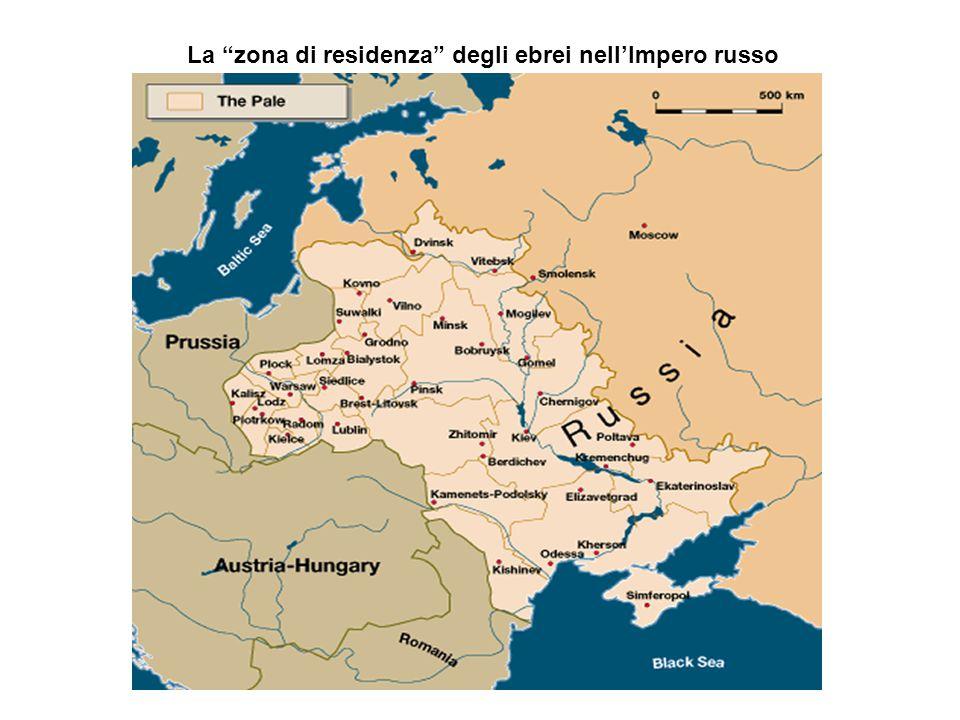 La zona di residenza degli ebrei nell'Impero russo