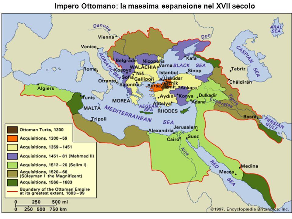 Impero Ottomano: la massima espansione nel XVII secolo