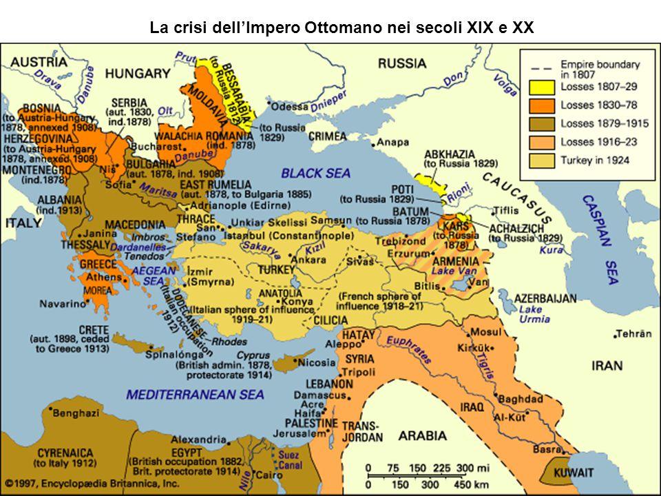 La crisi dell'Impero Ottomano nei secoli XIX e XX