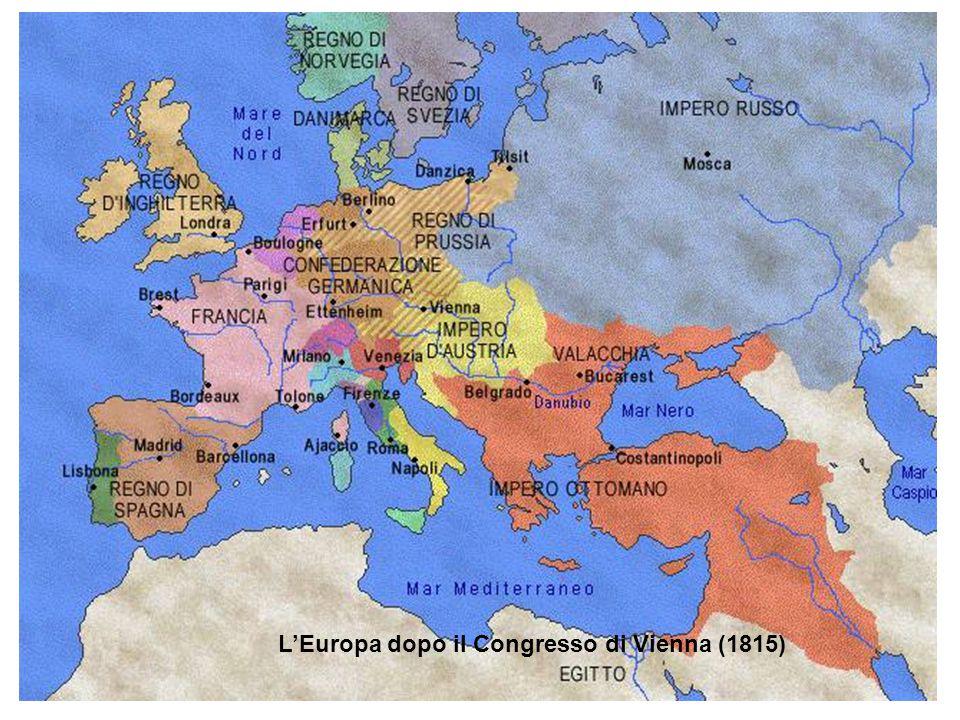 L'Europa dopo il Congresso di Vienna (1815)