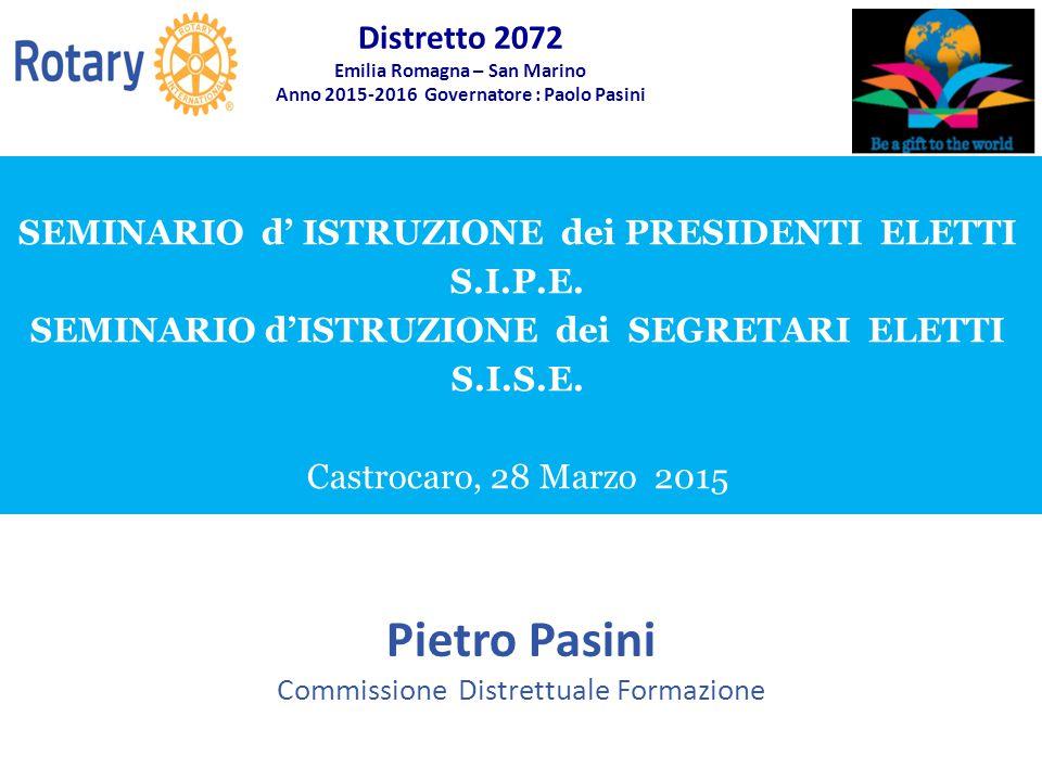 Pietro Pasini Commissione Distrettuale Formazione