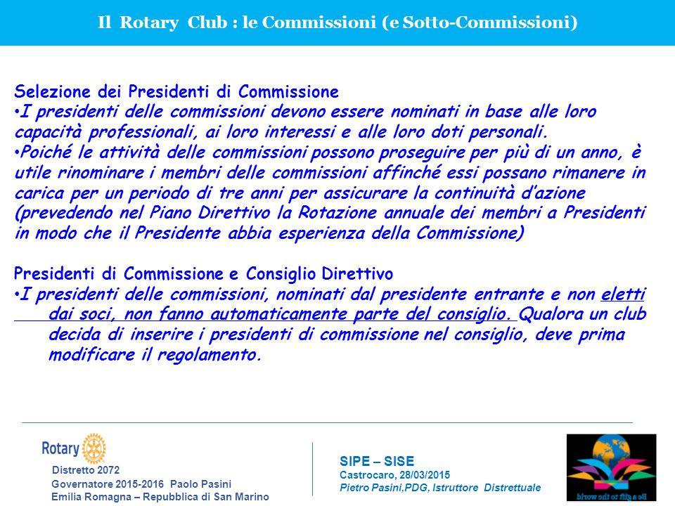 Il Rotary Club : le Commissioni (e Sotto-Commissioni)