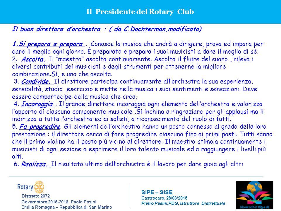 Il Presidente del Rotary Club