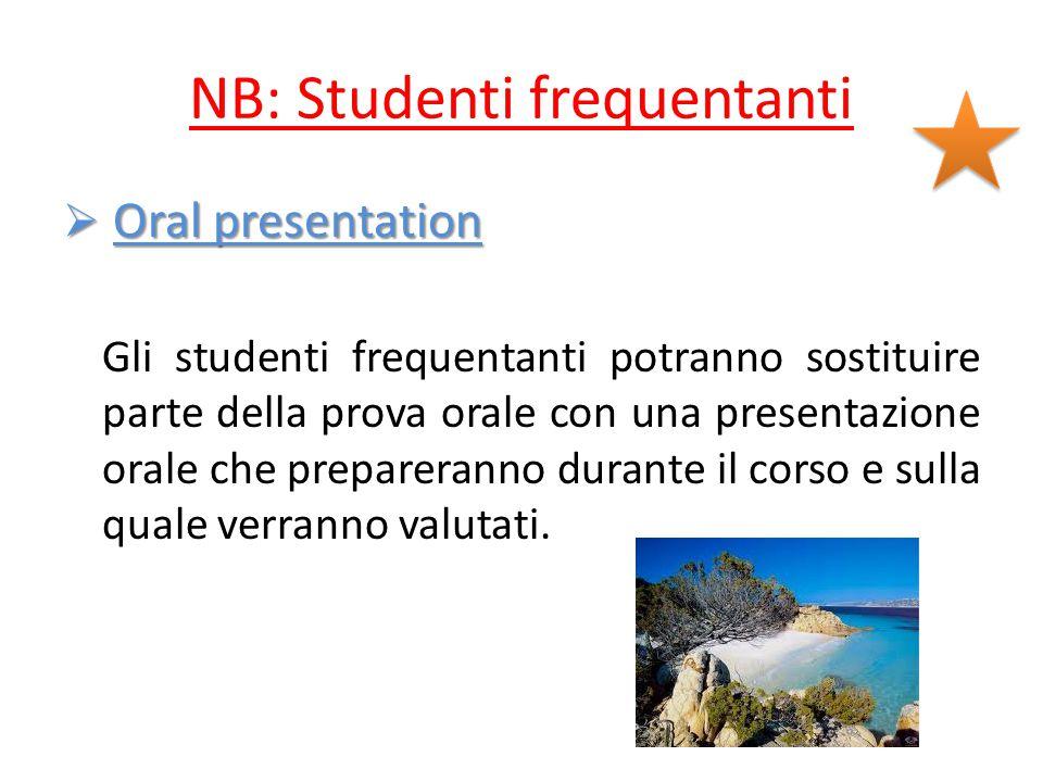 NB: Studenti frequentanti