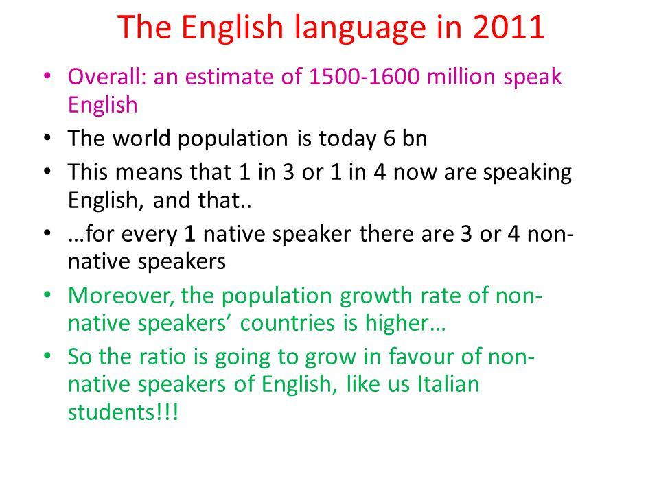 The English language in 2011