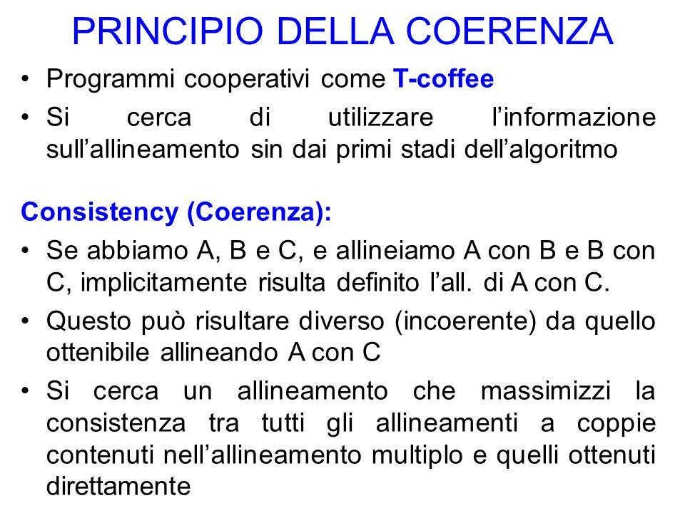 PRINCIPIO DELLA COERENZA