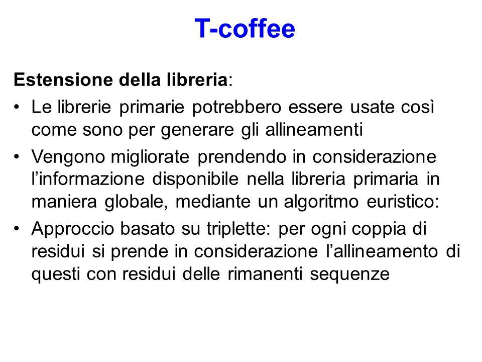 T-coffee Estensione della libreria: