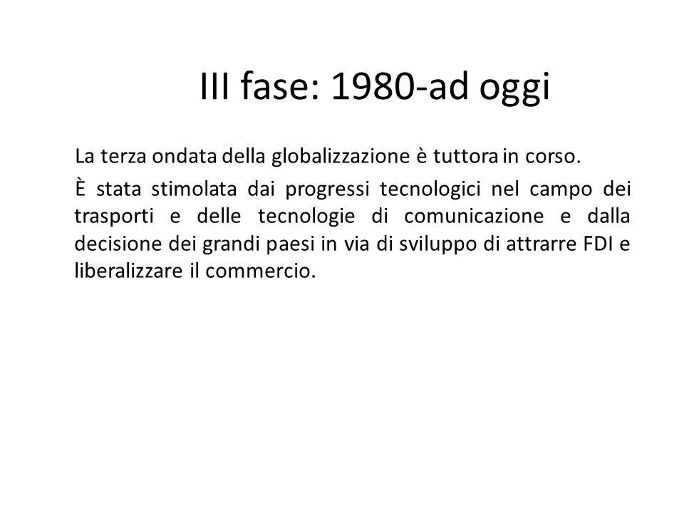 III fase: 1980-ad oggi