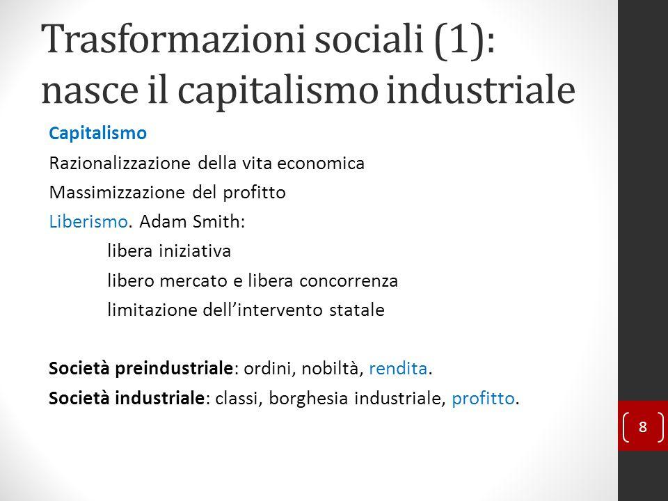 Trasformazioni sociali (1): nasce il capitalismo industriale