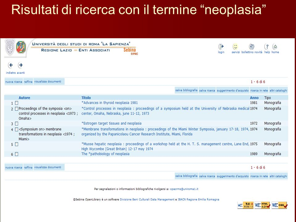 Risultati di ricerca con il termine neoplasia