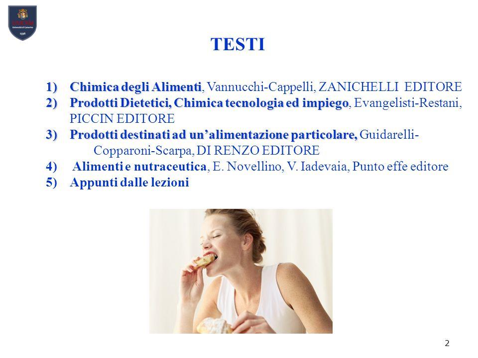 TESTI Chimica degli Alimenti, Vannucchi-Cappelli, ZANICHELLI EDITORE