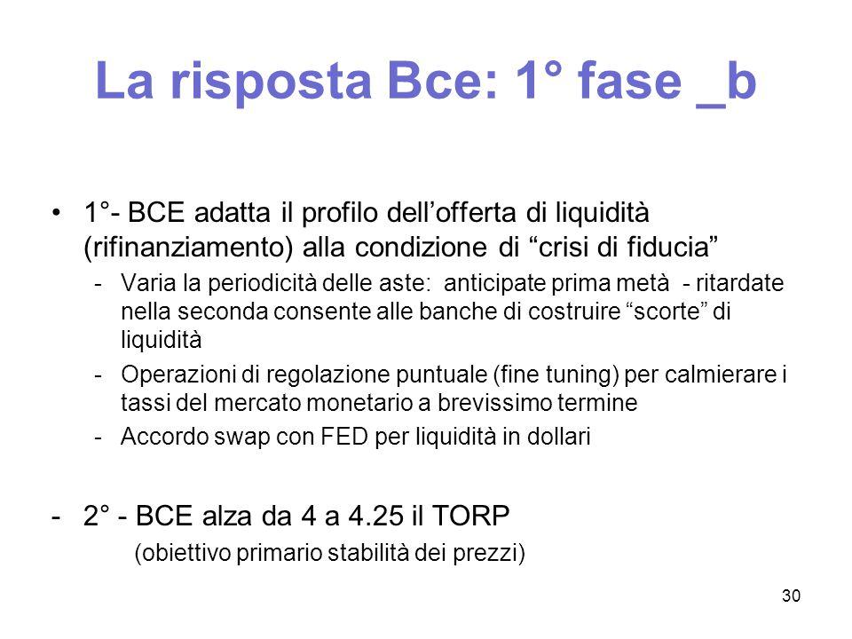 La risposta Bce: 1° fase _b