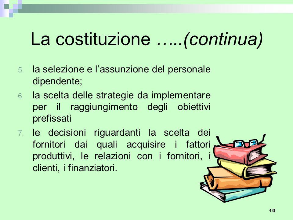 La costituzione …..(continua)