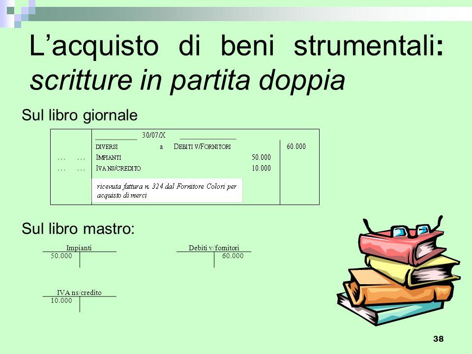 L'acquisto di beni strumentali: scritture in partita doppia