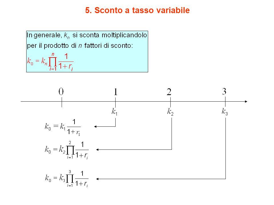 5. Sconto a tasso variabile