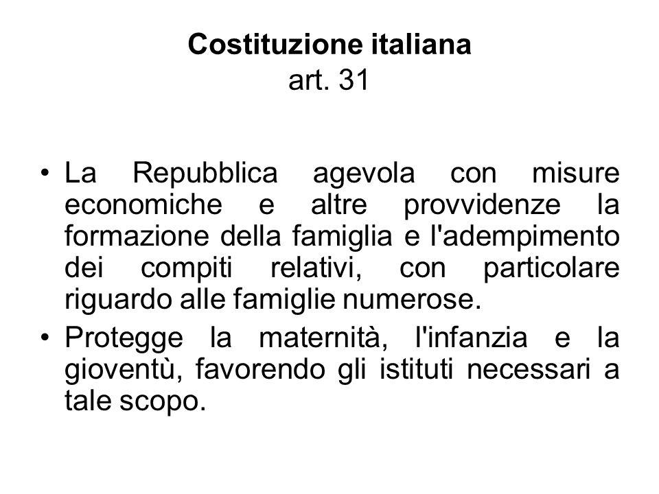Costituzione italiana art. 31