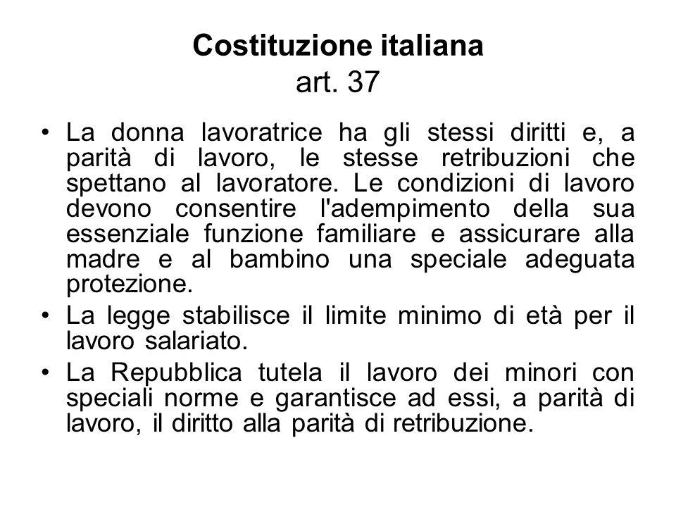 Costituzione italiana art. 37
