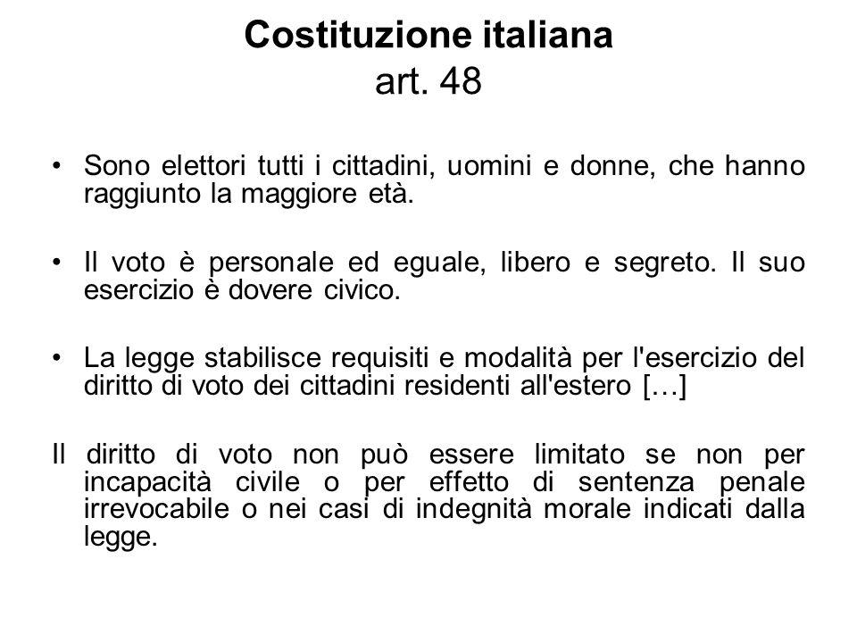 Costituzione italiana art. 48