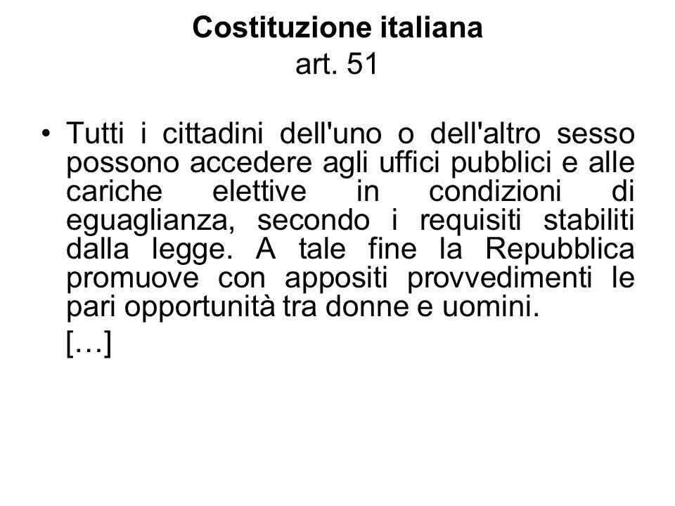 Costituzione italiana art. 51