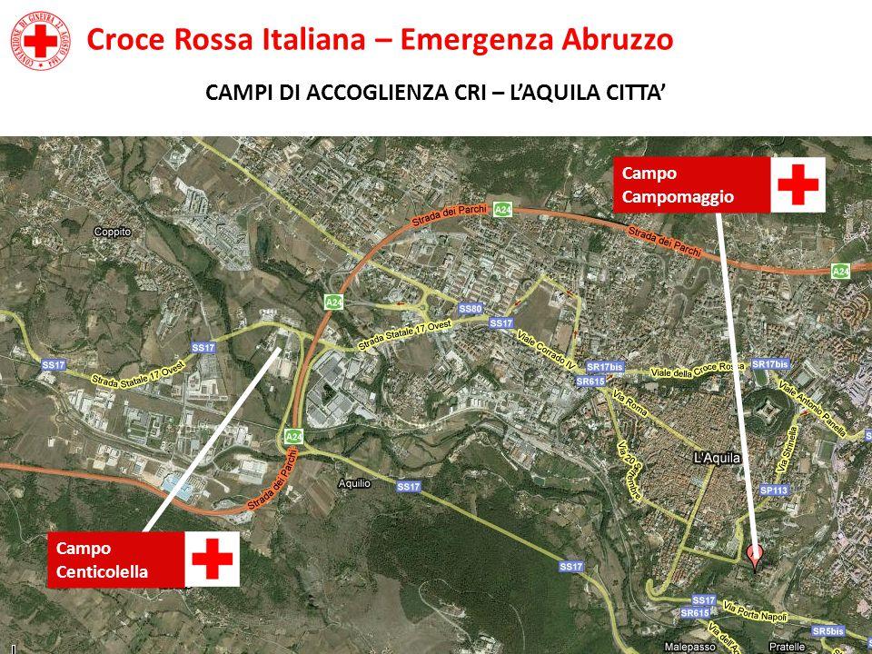 Croce Rossa Italiana – Emergenza Abruzzo