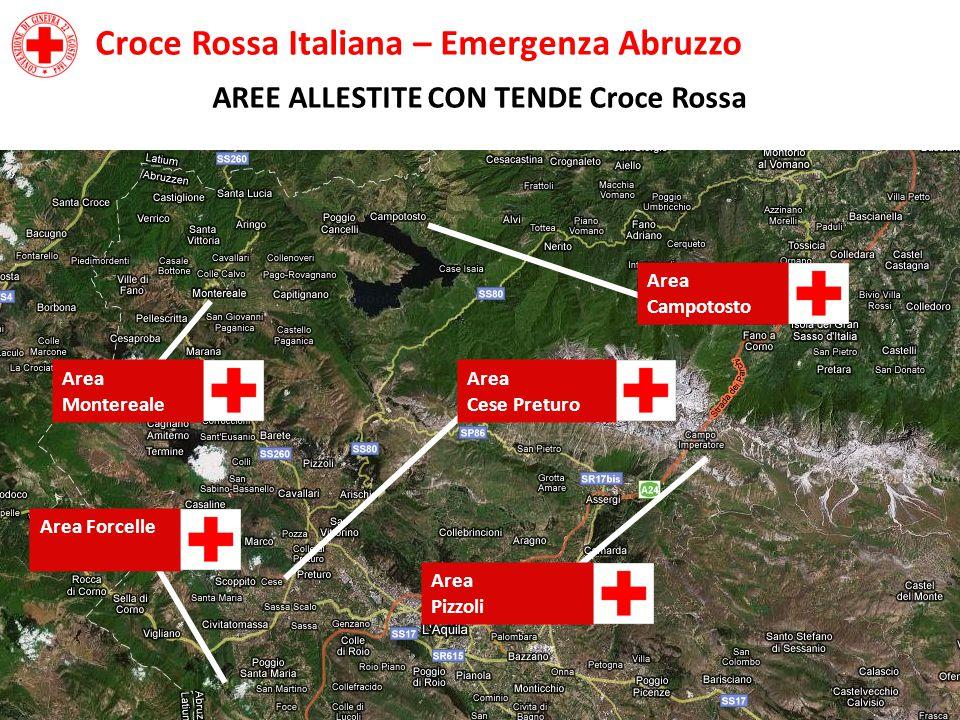 AREE ALLESTITE CON TENDE Croce Rossa