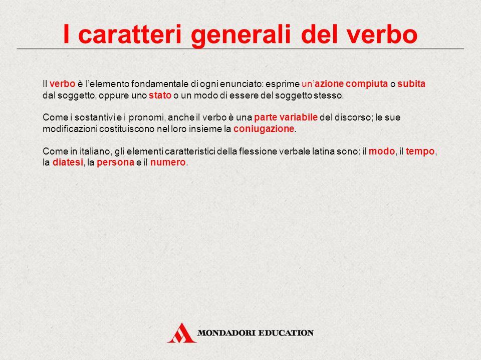 I caratteri generali del verbo