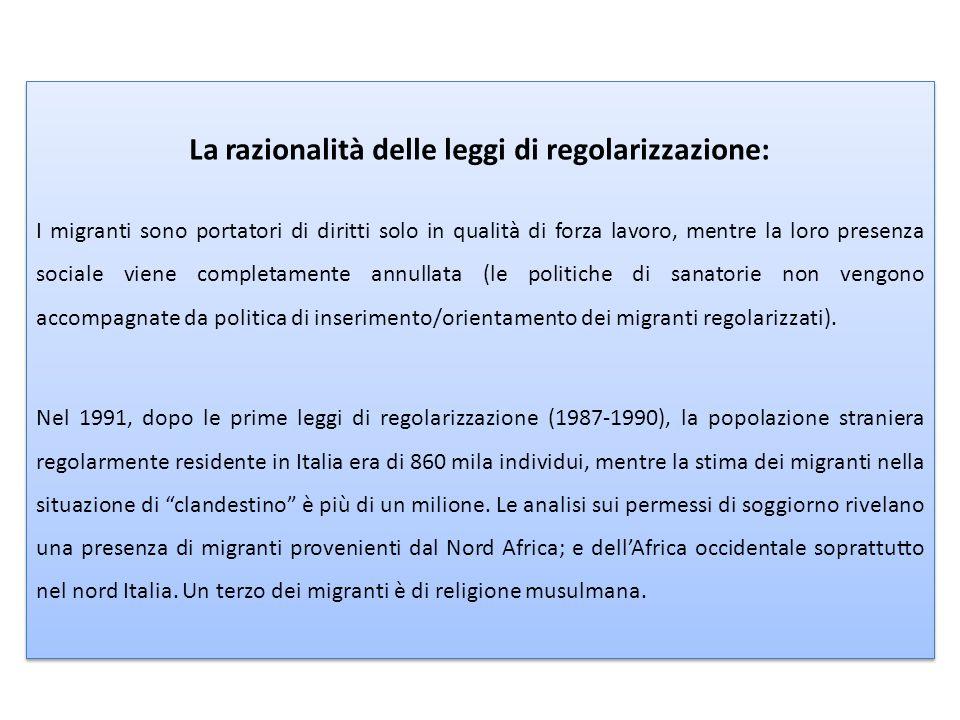 La razionalità delle leggi di regolarizzazione: