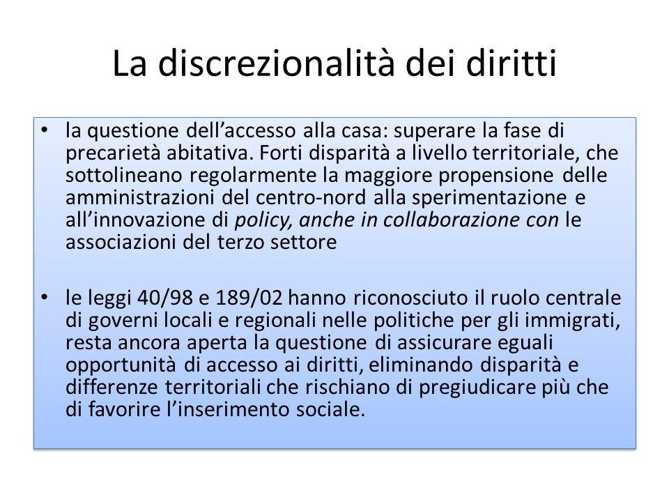 La discrezionalità dei diritti