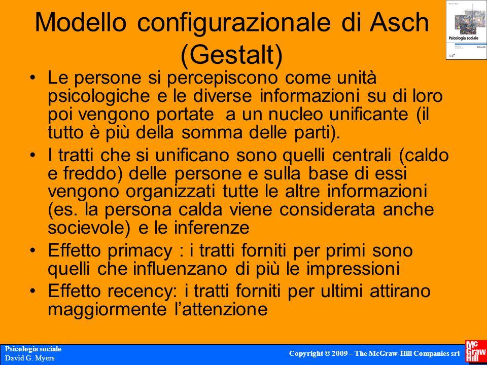 Modello configurazionale di Asch (Gestalt)