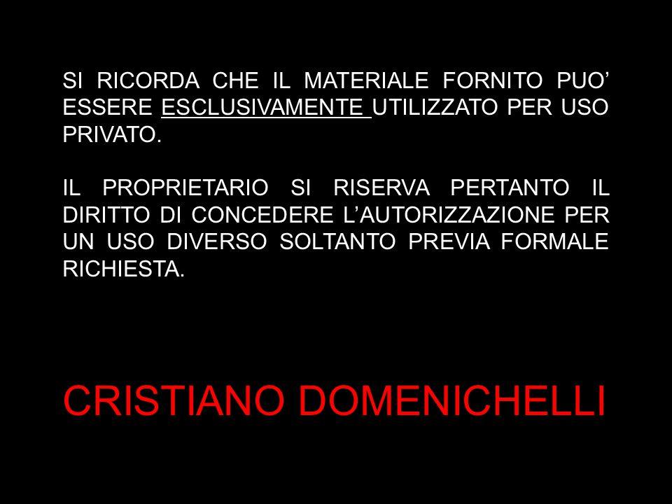 CRISTIANO DOMENICHELLI
