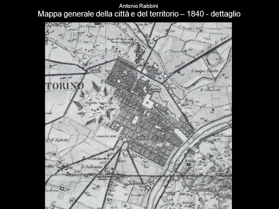 Antonio Rabbini Mappa generale della città e del territorio – 1840 - dettaglio