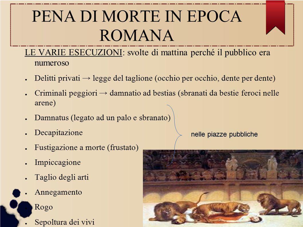 PENA DI MORTE IN EPOCA ROMANA
