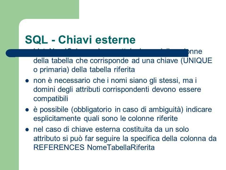 SQL - Chiavi esterne