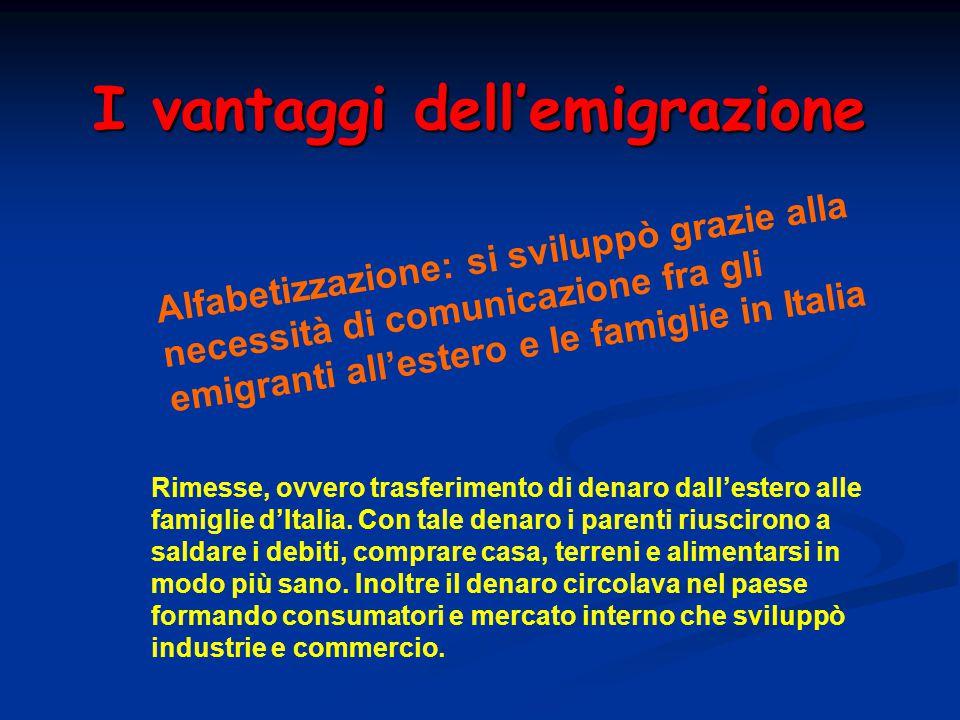 I vantaggi dell'emigrazione