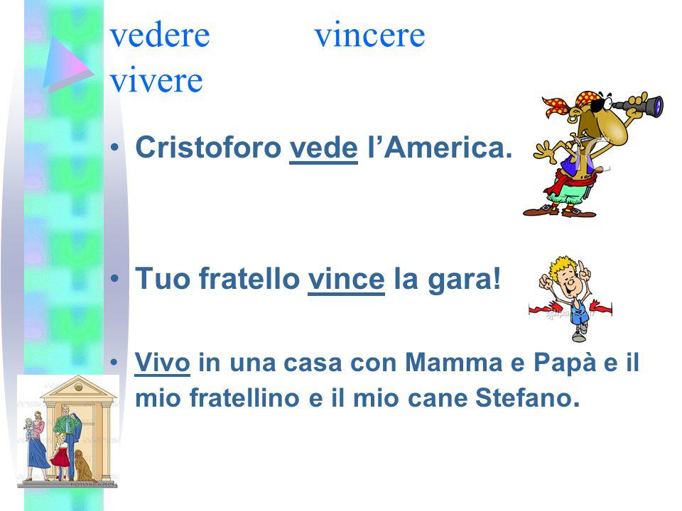 vedere vincere vivere Cristoforo vede l'America.