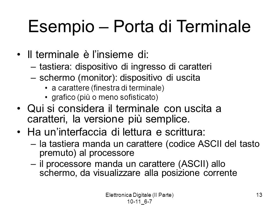 Esempio – Porta di Terminale