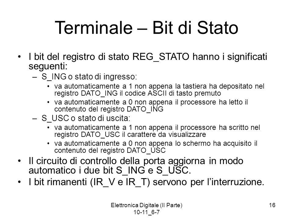 Terminale – Bit di Stato