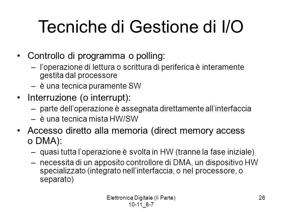 Tecniche di Gestione di I/O