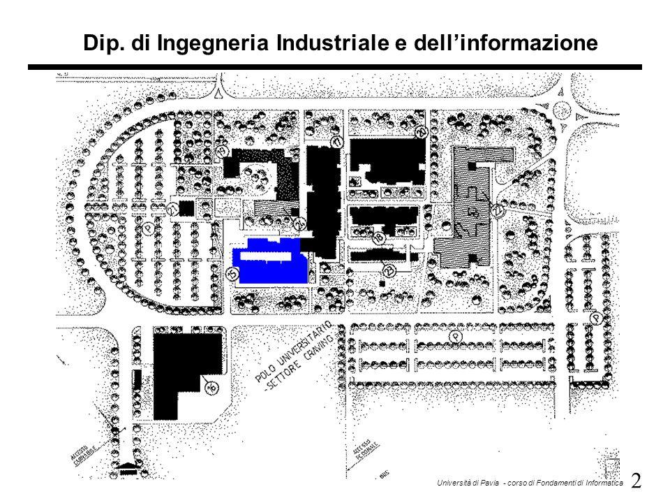 Dip. di Ingegneria Industriale e dell'informazione