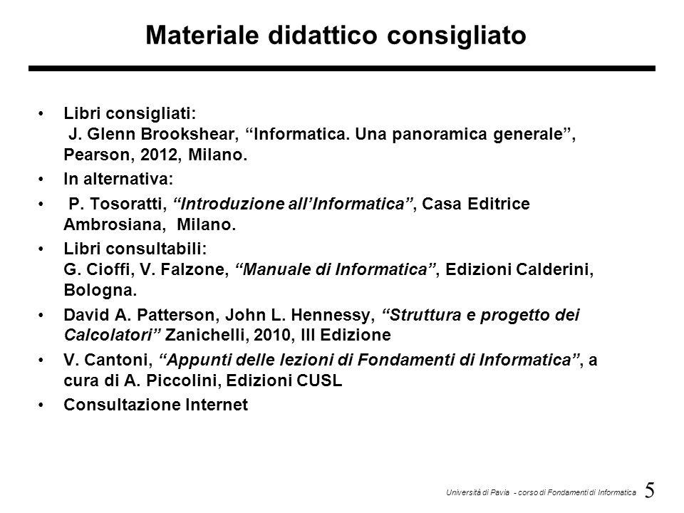 Materiale didattico consigliato