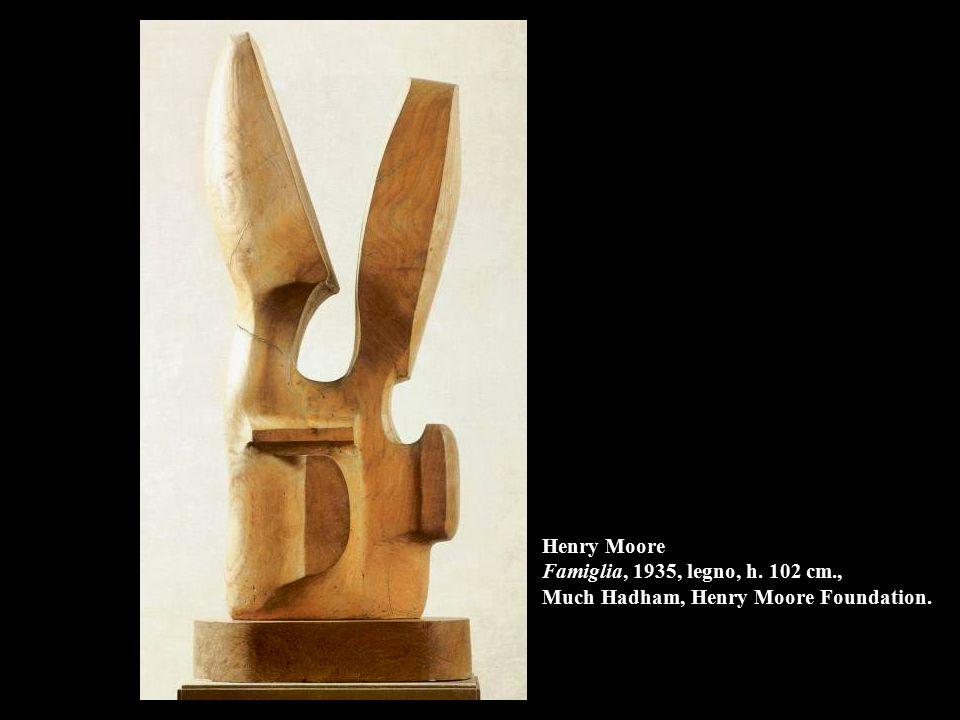 Henry Moore Famiglia, 1935, legno, h. 102 cm
