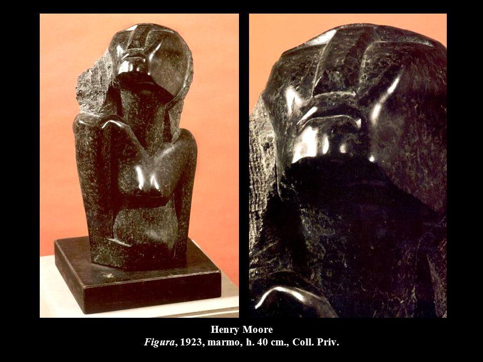 Henry Moore Figura, 1923, marmo, h. 40 cm., Coll. Priv.
