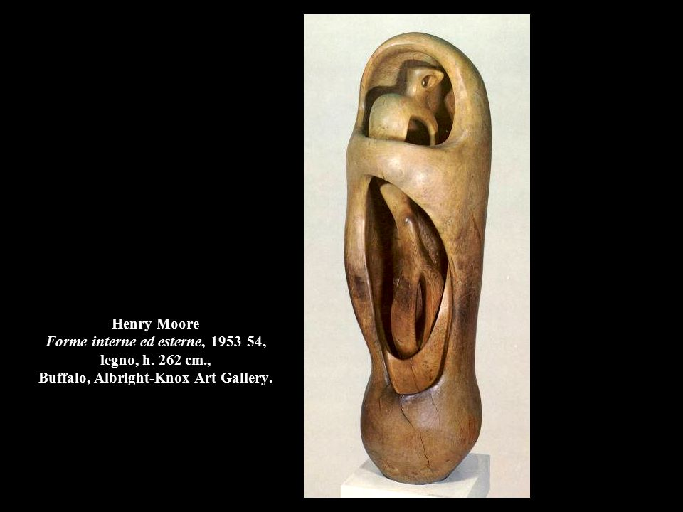 Henry Moore Forme interne ed esterne, 1953-54, legno, h. 262 cm