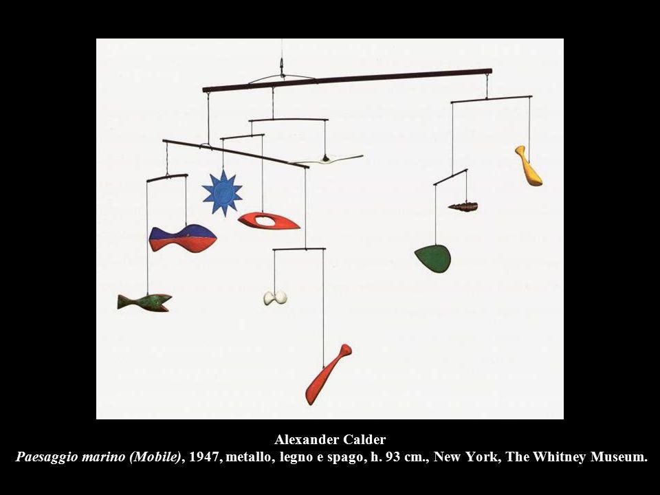 Alexander Calder Paesaggio marino (Mobile), 1947, metallo, legno e spago, h.